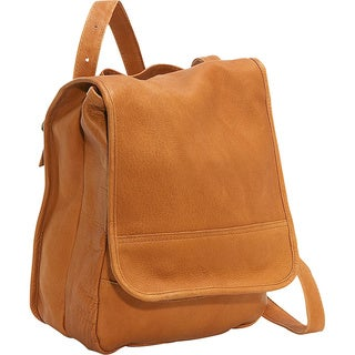 LeDonne Leather Women's Leather Convertible Backpack and Shoulder Bag with Antique Hardware