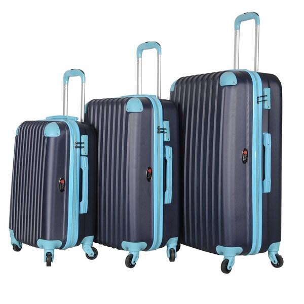 Brio Luggage 3-piece Hardside Luggage Set with Spinner Wheels 18299638