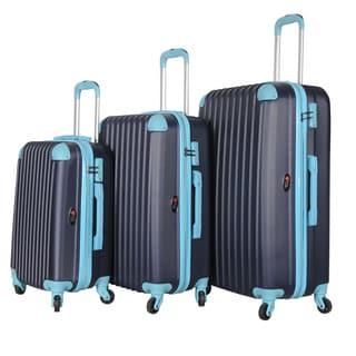 Brio Luggage 3-piece Hardside Luggage Set with Spinner Wheels
