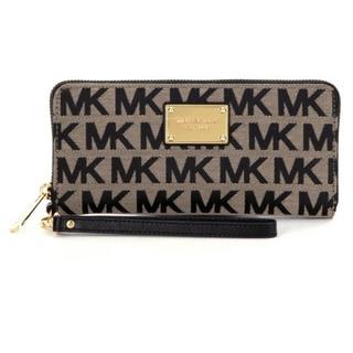 Michael Kors Jet Set Travel Beige/Black Continental Wallet