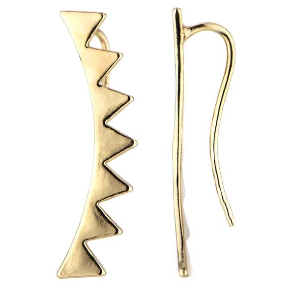 Brass Base Gold Spike Ear Cuffs