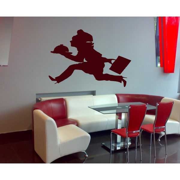 Cook in a hurry Wall Art Sticker Decal Red