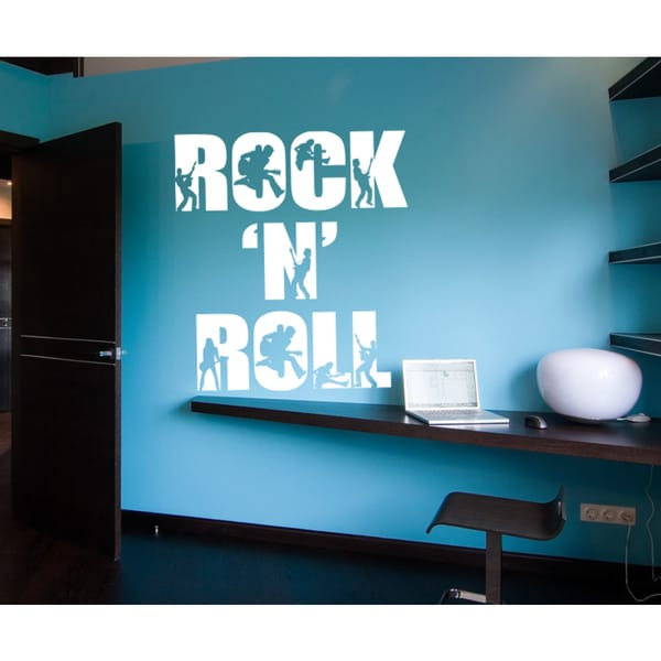 Rock'n'roll Wall Art Sticker Decal White