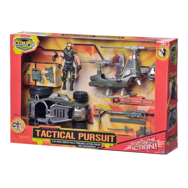 The Corps Tactical Pursuits Set with Helicopter