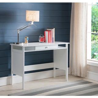 William S Home Furnishing Bodai White 1 Drawer Desk