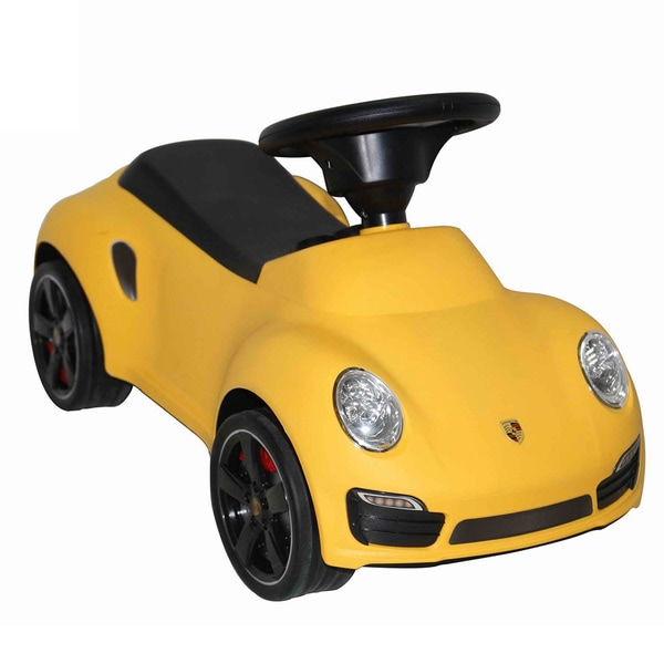 Best Ride On Cars Porsche 911 Turbo Push Car Yellow