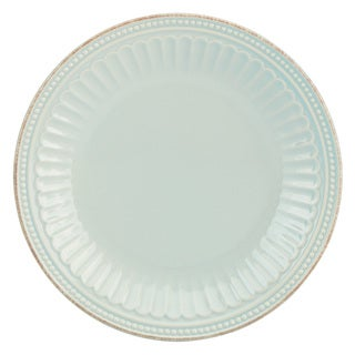 Lenox French Perle Groove Ice Blue Accent Plate
