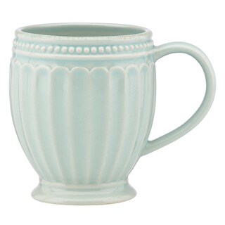 Lenox French Perle Groove Ice Blue Everything Mug