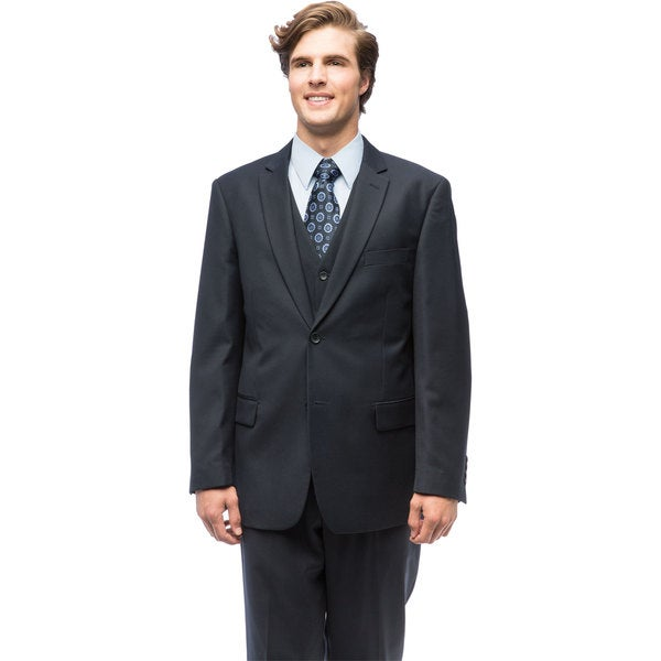 Giorgio Fiorelli Men's Navy Blue Vested Suit