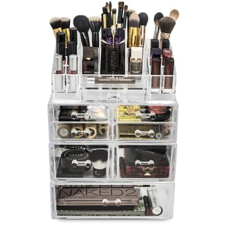 Large Acrylic 7 Drawer Makeup Organizer with Sectional