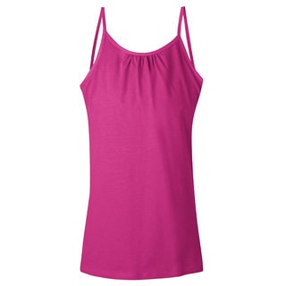 Hanes Girls' Solid-color Cami with Shelf Bra