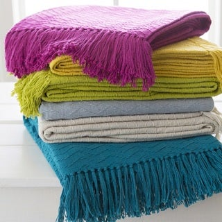"Intect Woven Cotton Throw (50"" x 60"")"
