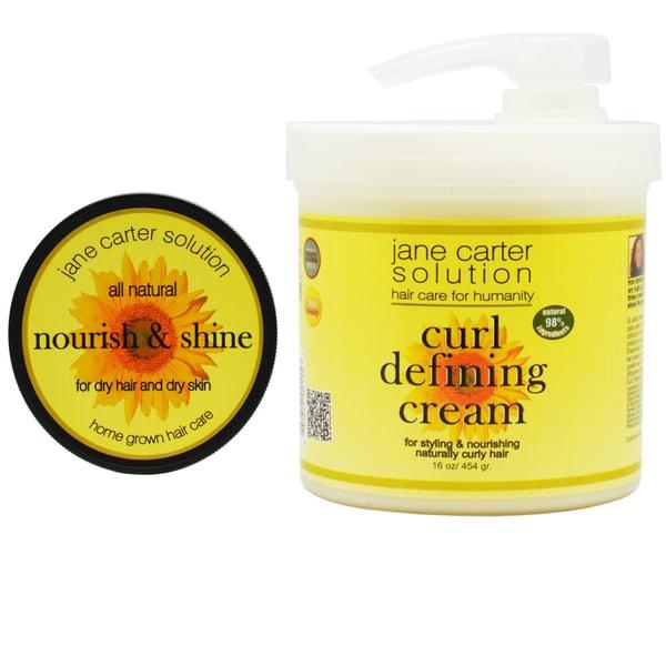 Jane Carter Nourish and Shine, Curl Defining Cream Combo Set