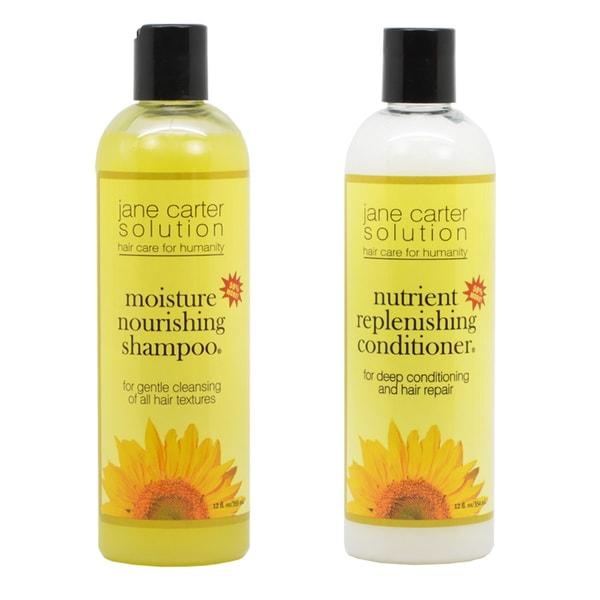 Jane Carter 12-ounce Moisture Nourishing Shampoo and Nutrient Replenishing Conditioner Set 18304906