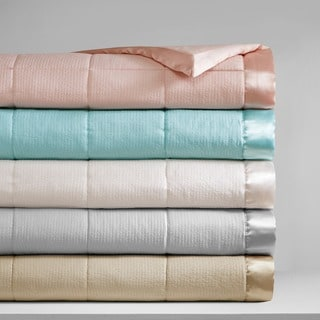 Madison Park Parkman Premium Oversized Down Alternative Blanket with 3M Scotchgard 4-Color Option