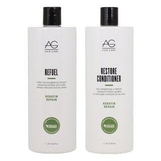 AG Hair Keratin Repair Refuel 33.8-ounce Shampoo & Restore Conditioner Set