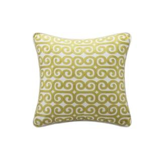 Echo Design Madira Yellow Square Pillow