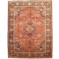 Herat Oriental Persian Hand-knotted 1960s Semi-antique Tabriz Wool Rug (9'10 x 12'9)