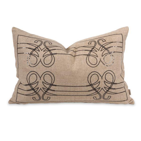 IK Operetta Sequin Pillow w/ Down Insert