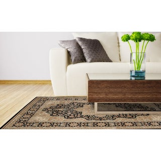 Home Dynamix Black Triumph Collection Traditional Machine Made Polypropylene Area Rug (9'2 x 12'5)