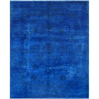 Pasargad Overdye Hand-Knotted Blue Wool Rug (8' x 10')