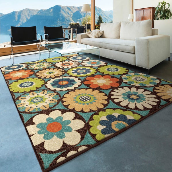 The Curated Nomad Pacheco Indoor/Outdoor Floral Rug (6'5 x 9'8) 18305298