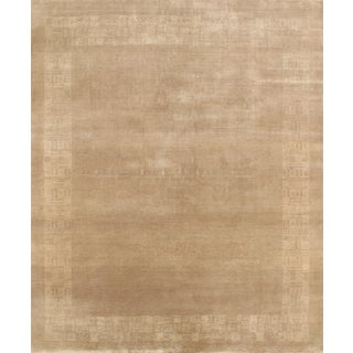 Pasargad Gabbeh Hand-Knotted Beige Wool Rug (8' x 10')