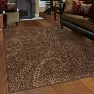 Carolina Weavers Indoor Paisley Blemish Brick Area Rug (7'10 x 10'10)