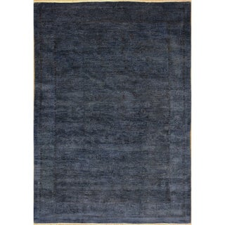 Overdyed Dwight Blue Hand-Knotted Rug (7'10 x 10'7)