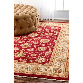 nuLOOM Traditional Persian Timeless Floral Red Rug (2'7 x 4')