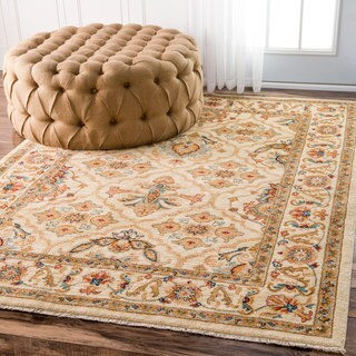 nuLOOM Traditional Persian Timeless Trellis Ivory Rug (5' x 7'7)