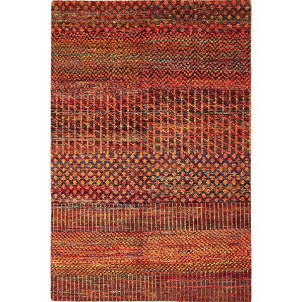 Sari Silk Van Rust Hand-Knotted Rug (6'6 x 9'8)