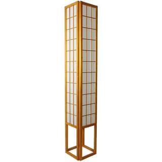 "Handmade Windowpane Shoji Floor Lamp - 72""H x 12""W x 12""D"