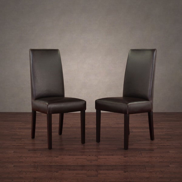 Dining Chairs Dark Brown (Set of 2)