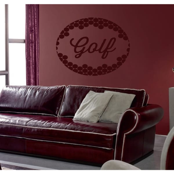 Golf ball Wall Art Sticker Decal Red
