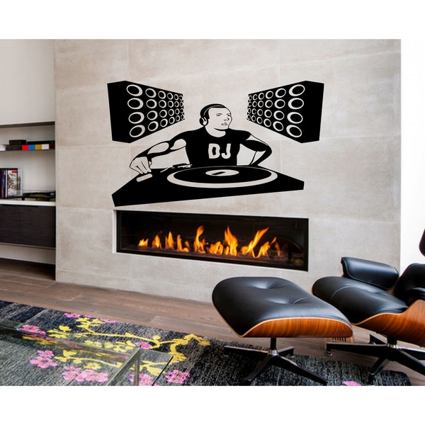 DJ dance music Wall Art Sticker Decal