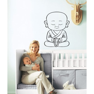 Toddler baby child yoga bracing strengthening sport meditation Wall Art Sticker Decal