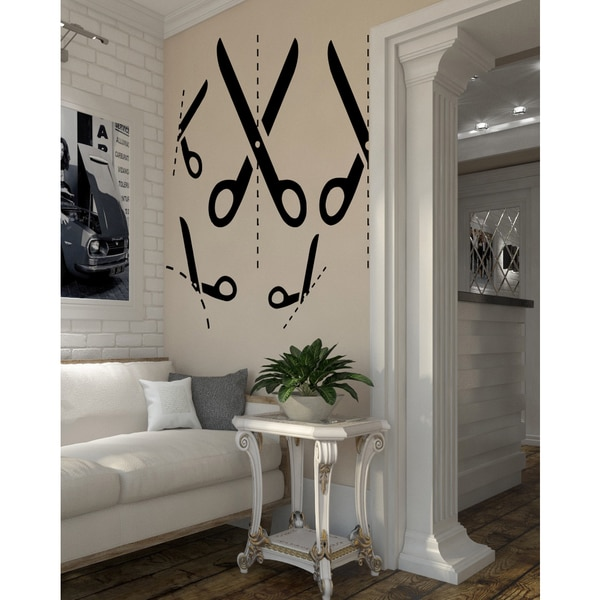 Scissors Wall Art Sticker Decal