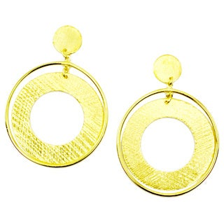 Betty Carre 18k Gold Overlay Circle Earrings