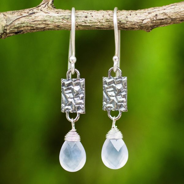 Sterling Silver 'Enchanted Harmony' Chalcedony Earrings (Thailand)