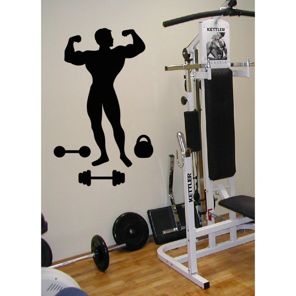 Male weight and dumbbells Wall Art Sticker Decal