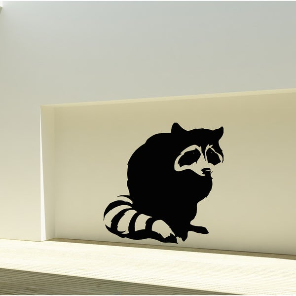 Animal raccoon Wall Art Sticker Decal