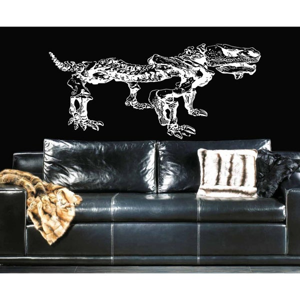 Dinosaur Bones Wall Art Sticker Decal White