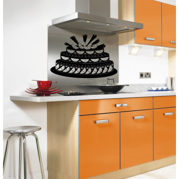 Cake with oranges Wall Art Sticker Decal