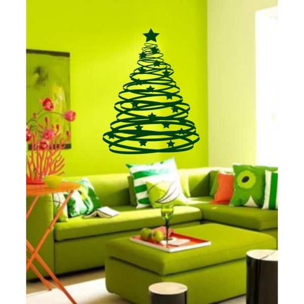 Glamorous tree Wall Art Sticker Decal Green