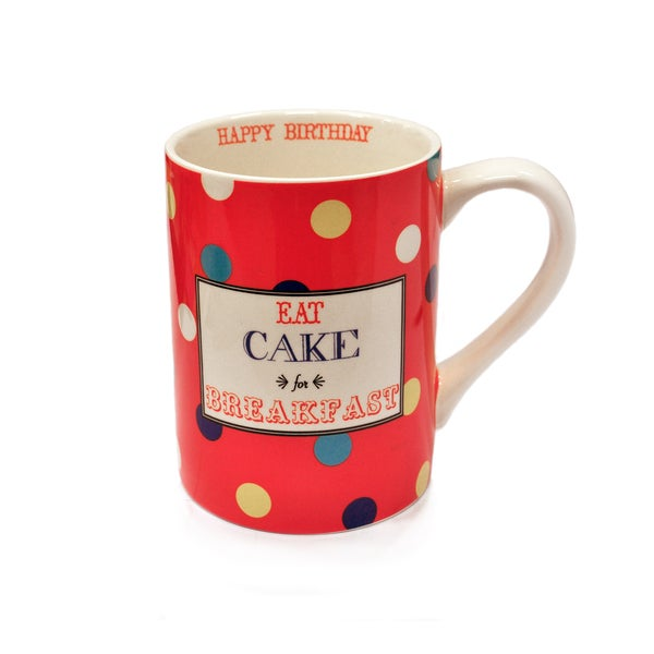 Kityu Gift Eat Cake for Breakfast 16-ounce Ceramic Mug