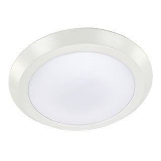 HomeSelects White 15-watt LED Disk Light