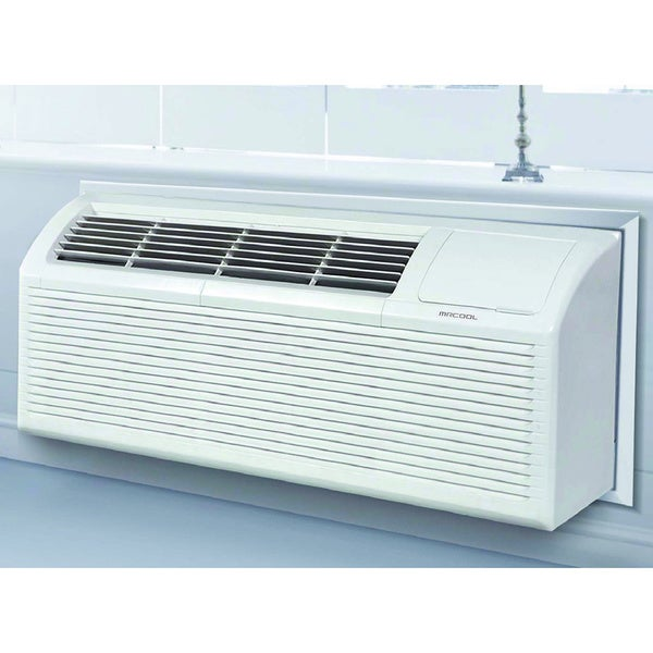 MRCOOL 12,000 BTU Packaged Terminal Air Conditioning PTAC + 3.5 kW Electrical Heater 10.7 EER, 230V - White 18319752