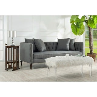 Stanbury Button Tufted Sofa with Nailhead Trim and Spindled Feet