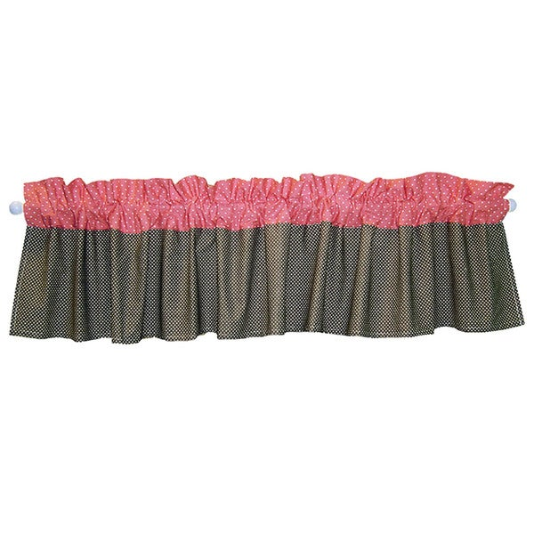 Trend Lab Nursery Cocoa and Coral 82-inch Window Valance